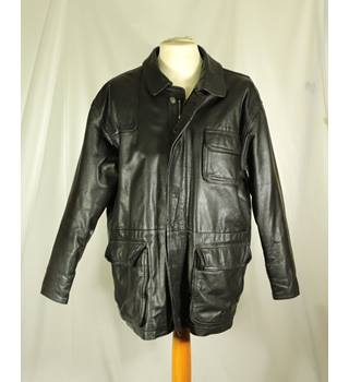 Unbranded - Size: L - Black - Leather jacket
