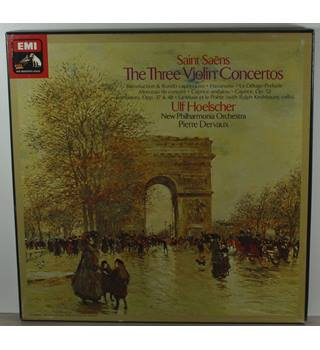 Saint-Saëns - The Three Violin Concertos - New Philharmonia Orchestra conducted by Ulf Hoelscher, Pierre Dervaux - SLS 5103
