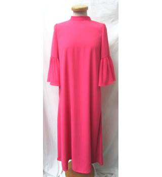 BNWOT - M&S Collection - Size: 14 - Shocking Pink - Calf Length dress