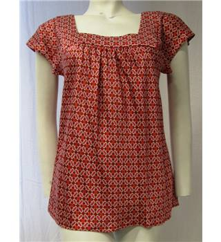 Banana Republic size S pink and red silk top