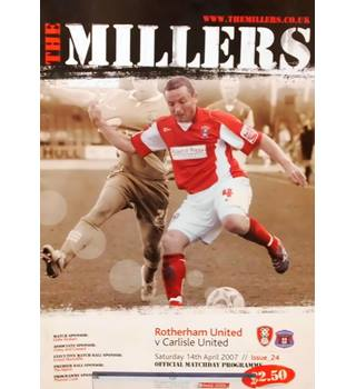 Rotherham United v Carlisle United - League One - 14th April 2007