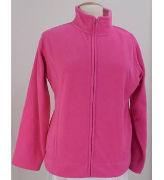 Edinburgh Woollen Mill - Size: 14/16 - Pink - Casual fleece jacket