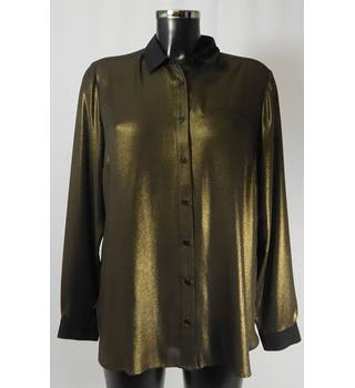 BNWOT Autograph Blouse - Metallic - Size 14 M&S Marks & Spencer - Size: 14 - Metallics - Long sleeved shirt