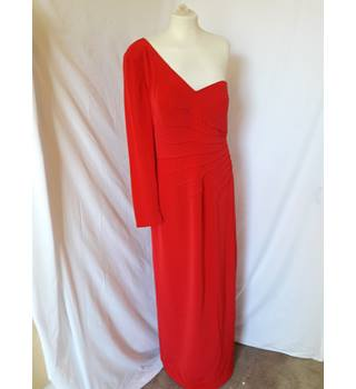 John Charles - Size: 14 - Red - Asymmetrical dress