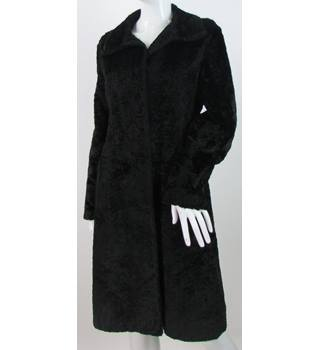 Nuage by Debenhams - Size: 8 - Black - Faux Fur Textured Coat