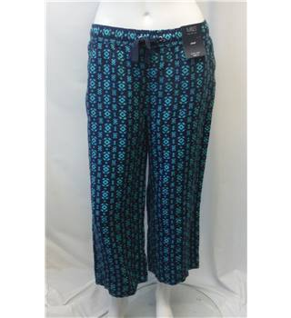 NWOT M&S Collection- Size 10 - Blue with green pattern - Trousers