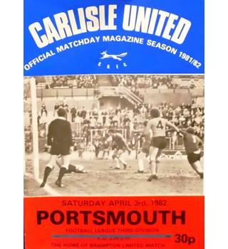 Carlisle United v Portsmouth - Division 3 - 3rd April 1982