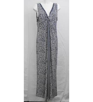 Fatface long navy/white dress Size 18