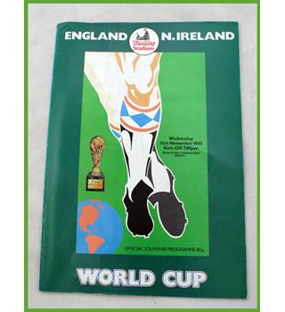 Football. 1985. World Cup qualifier. England v. N.Ireland
