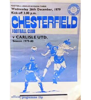 Chesterfield v Carlisle United - Division 3 - 26th December 1979