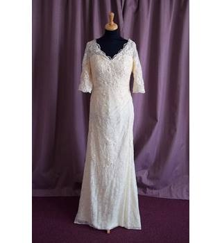 Unbranded, Vintage Cream Wedding Dress, Size 12