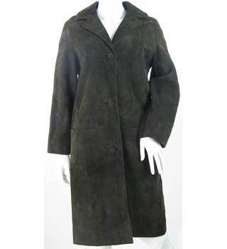 Peter Robinson for Morel of London - Size: 12 - Brown - Long Suede Coat