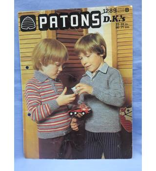 "Patons 1289  DK     ""a boy's world"" knitting patterns"