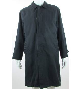 "Crombie - Size: L 46"" - Navy Blue - Coat"
