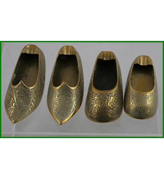 Brass shoe collection