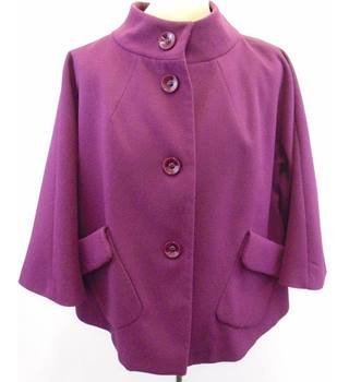 M&S Grape fabric coat - Size 18