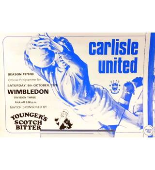 Carlisle United v Wimbledon - Division 3 - 6th October 1979