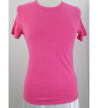 M&S Marks & Spencer - Size: 12 - Pink - Short-sleeved - T-Shirt