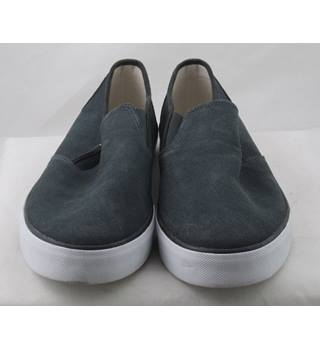 NWOT M&S Collection, size 12 grey suede plimsolls