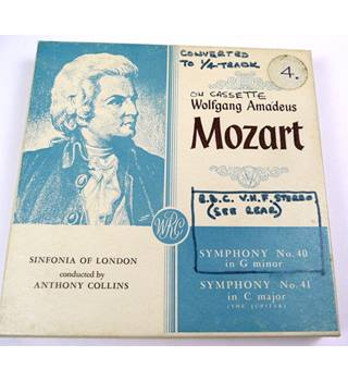 Mozart , Symphony nos  40 & 41. Reel to Reel Tape TTP 26