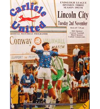 Carlisle United v Lincoln City - Division 3 - 2nd November 1993