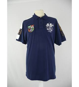 Chunk Clothing Co Size: XXL Blue Polo shirt
