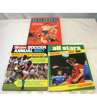 Vintage Football Annuals (set of 3)