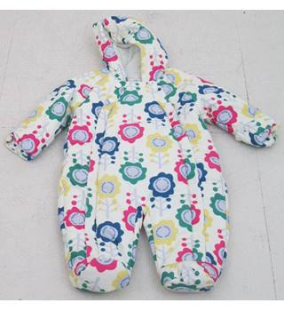 NWOT M&S Baby, age 0-3 months cream flower print snowsuit