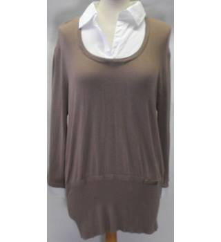 Forever Knits Size 18 Taupe Knitwear long sleeved jumper