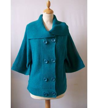 Text - Size: L - Blue - Knitted jacket