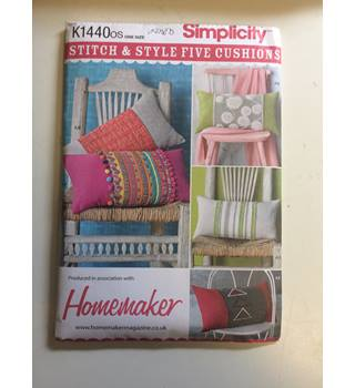 Simplicity K1440os -  HOMEMAKER STITCH AND STYLE FIVE CUSHIONS