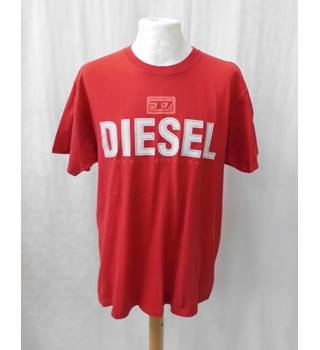 Diesel - Size: L - Red - Short sleeved top