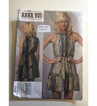 Anna Sui V1153 Dress Pattern sizes 12-18