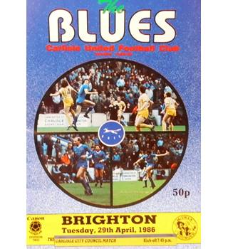 Carlisle United v Brighton & Hove Albion - Division 2 - 29th April 1986