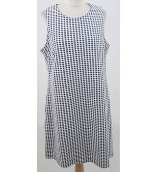 Next - Size: 16 - black & white checked dress