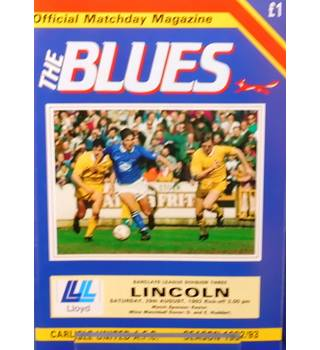 Carlisle United v Lincoln City - Division 3 - 29th August 1992