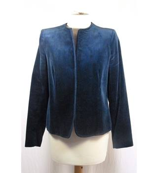 Blue Velvet Casual Buttonless Jacket by Anatolian in UK size 14