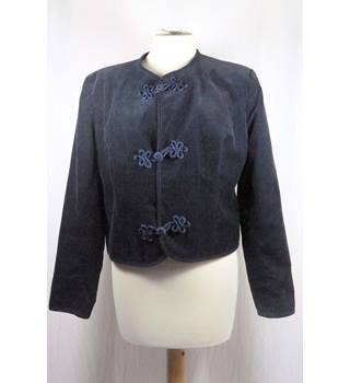 Dark Blue Fine Cord Casual Jacket by Laura Ashley in UK size 14