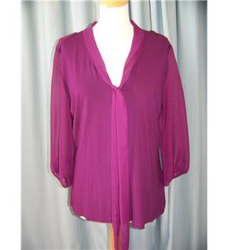M&S Marks & Spencer - Size: 16 - Purple Blouse
