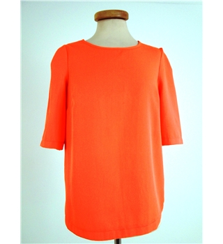 Miss Selfridge Size 10 Orange Top