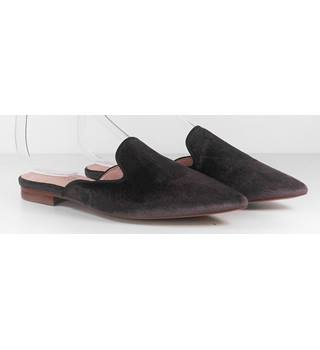 Marks & Spencer Brown Velvet Slip On Flat Shoes Size 4