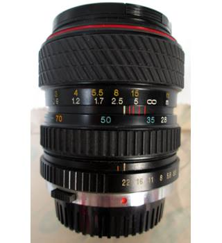 Tokina SD 28 -70mm F3.5 zoom Plus Fujifilm Wide conversion lens (0.79x).