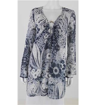 Phase Eight  Size S  Blue and White Floral Cover Up Dress