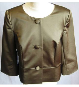 Kaliko olive green satin boxy jacket size 16/EU42 BNWT Kaliko - Size: 16 - Green - Smart jacket / coat