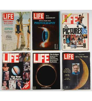 Copies of LIFE and LIFE International magazines from the last century.