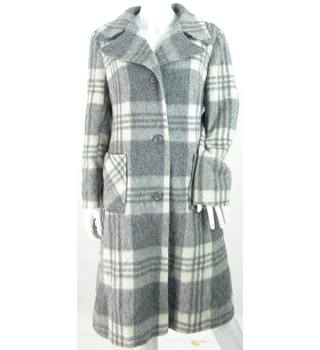 VINTAGE -Quality Fashion - Size: 14 - Grey - Wool Mix Coat