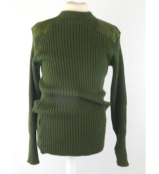 "As new Bridgewater  size 42"" /107 cm chest - green army sweater - civilian"