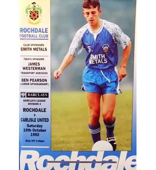 Rochdale v Carlisle United - Division 3 - 10th October 1992