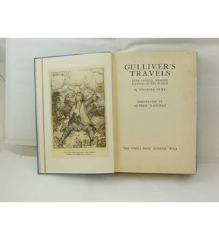 Gulliver's Travels illus by Arthur Rackham publ Temple Press 1937 1st edition thus