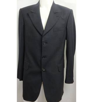 Crombie - Size: L - Dark Grey, Blue - Single breasted suit jacket